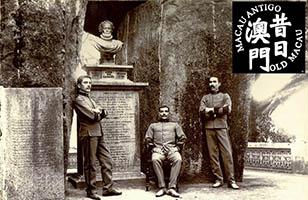 1.3-Soldados portugueses na Gruta de Camões em 1906