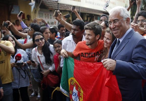 António Costa foi recebido calorosamente em Goa