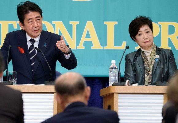 Shinzo Abe tem Yuriko Koike como principal rival