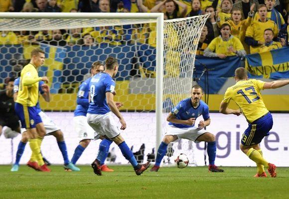 Suecos derrotaram italianos em Estocolmo por 1-0