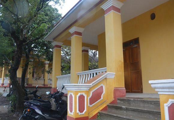 Uma das casas já restauradas